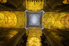 Ceiling of Sevilla, Spain Cathedral Stock Photography