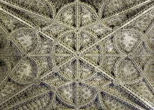 Ceiling of Seville cathedral Stock Photography