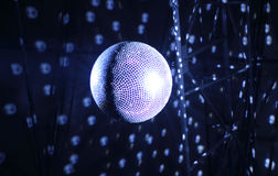 Ceiling shining glitterball detailed stock image Stock Photos
