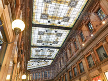 Ceiling shopping mall Rome Italy christmas time Royalty Free Stock Images