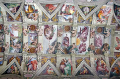 Ceiling in the Sistine Chapel. (Cappella Sistina), Vatican City Royalty Free Stock Photography