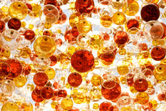 Ceiling with sphere balls decorations Stock Image