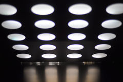Ceiling with spotlights Royalty Free Stock Photography