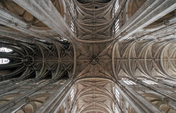 Ceiling of the St. Eutasche church Royalty Free Stock Photography