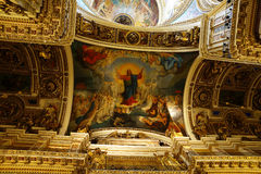 Ceiling in the St. Isaac Cathedral, St. Petersburg. Russia stock photography