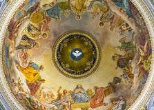 Ceiling in the St. Isaac's Cathedral, St Petersburg. Stock Photos
