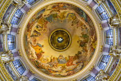 Ceiling in the St. Isaac's Cathedral, St Petersburg. Royalty Free Stock Photos