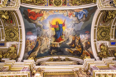 Ceiling in the St. Isaac's Cathedral, St Petersburg. Royalty Free Stock Images