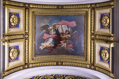 Ceiling in the St. Isaac's Cathedral, St Petersburg. Royalty Free Stock Image