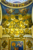 The ceiling of St Isaac's Cathedral in St Petersburg Royalty Free Stock Image