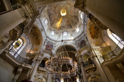 The ceiling of St. Nicholas Church, Prague Royalty Free Stock Images