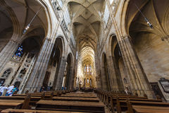 The ceiling of St. Nicholas Church, Prague Stock Photos