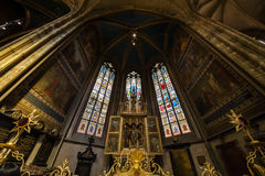 The ceiling of St. Nicholas Church, Prague Royalty Free Stock Image