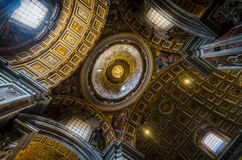 Ceiling at St. Peter. With a wide angel Royalty Free Stock Photos