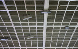 Ceiling stadium. Detail of the structure of a stadium roof stock images