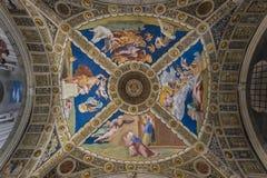 Ceiling of Stanza di Eliodoro Stock Image