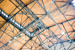 Ceiling steel construction Royalty Free Stock Photography