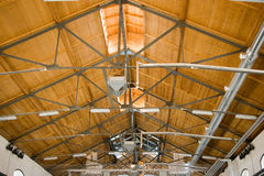 Ceiling steel construction Royalty Free Stock Images