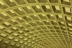 The Ceiling. Striking graphic patterns of the DC subway ceiling Stock Photo