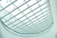Ceiling structure of shopping mall uprisen view.as background interior decoration concept with copy space. For your text or design Stock Images