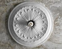 ceiling-stucco in the form of a flower Stock Image