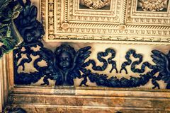Stucco molding of Isaac cathedral. Ceiling with stucco molding of Isaac cathedral, St Petersburg, Russia Stock Photos