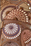 Ceiling of the sultan ahmet mosque Royalty Free Stock Images
