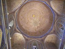 Ceiling in Tamerlane& x27;s crypt Royalty Free Stock Photo