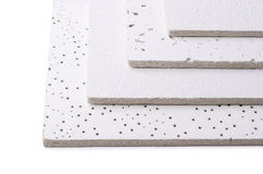 Ceiling tiles. Samples of suspended ceiling tiles royalty free stock image