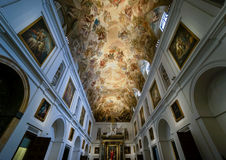 Ceiling of Toledo's Cathedral Sacristy Stock Photography