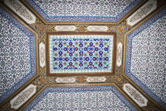 Ceiling in the Topkapi, Palace, Istanbul, Turkey Royalty Free Stock Photography