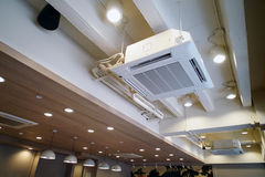 Ceiling type hanging air conditioner unit Royalty Free Stock Photography
