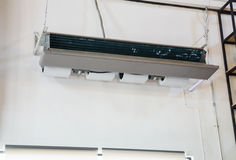 Ceiling type hanging air conditioner unit Royalty Free Stock Images