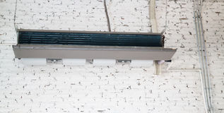 Ceiling type hanging air conditioner unit Stock Images
