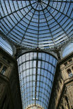 Ceiling of the umberto passage. Glass ceiling of the umberto passage in naples, italy royalty free stock photography