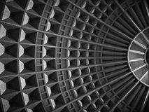 Ceiling at Union Station. The symmetrical ceiling at union station Los Angeles taken near the Red line metro Stock Images