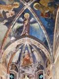 Ceiling of upper church in Chiesa di San Fermo Stock Image