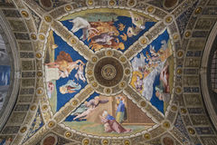 Ceiling in the Vatican Stock Image