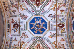 Ceiling in Vatican Museum Royalty Free Stock Photography