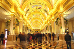 Ceiling of The Venetian Macao. It is a luxury hotel and casino resort in Macao Royalty Free Stock Image