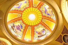 Ceiling of The Venetian Macao. It is a luxury hotel and casino resort in Macao Stock Photography