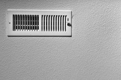 Ceiling vent. Black and white photograph of a ceiling vent background Royalty Free Stock Photography