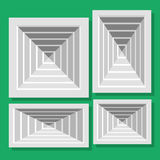 Ceiling ventilation shutters. Illustration ceiling ventilation shutters. Set ventilation shutters different type. Isolated vector illustrations. Vector flat Royalty Free Stock Photo