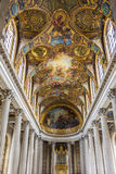 Ceiling of Versailles Chapel Stock Images