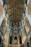 Ceiling view of Norwich Cathedral, UK Royalty Free Stock Photography
