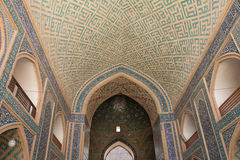 Ceiling and wall, mosque, yazd Stock Photos