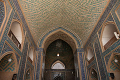 Ceiling and wall, mosque, yazd Stock Photography
