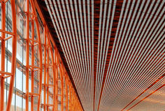 Ceiling and wall structure stock images