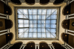 The ceiling of the Walter's Art Museum, in Mount Vernon, Baltimo stock image