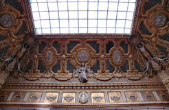 Ceiling and window. Ceiling of the Louvre Museum Stock Photo